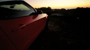 Open Top Cabriolet Convertible — Stock Video