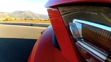 Side View Luxury Cabriolet Convertible — Stock Video