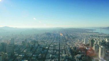 Aerial view of the Golden Gate Bridge, San Francisco, USA — Stock Video