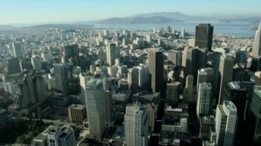 Aerial view of San Francisco city, North America USA — Stock Video
