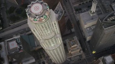 Veduta aerea di noi banca torre, los angeles, usa — Video Stock