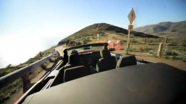Time lapse Luxury Car Vacation Road Trip — Stock Video
