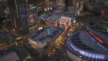 Aerial view of downtown Staples Centre, LA, USA — Stock Video