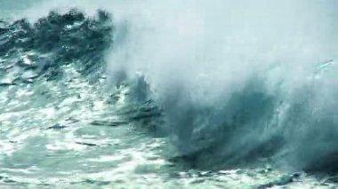 Close up Aqua Ocean Waves — Stock Video