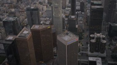Aerial view of downtown skyscrapers Los Angeles, USA — Stock Video