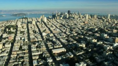 Aerial landscape view of the city of San Francisco, USA — Stock Video