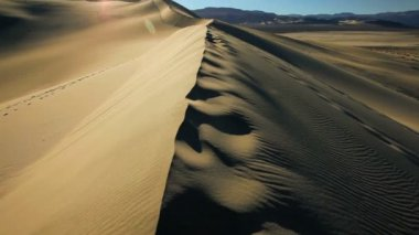 Sand Dunes Arid Desert — Stock Video