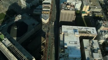 Aerial vertical view of the streets of San Francisco, USA — Stock Video