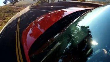 Luxury Cabriolet American Road Trip — Stock Video