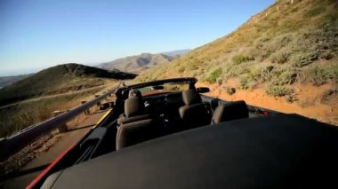 Californian road trip driving luxury Cabriolet