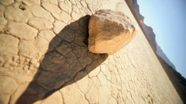 Moving Rock Racetrack Playa Colorado Desert — Stock Video