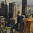 Aerial view of city skyscrapers Los Angeles, USA — Stockvideo