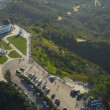 Aerial view Griffith Observatory, Los Angeles, USA - Stock Photo