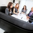 Multi Ethnic Business Team Disappointing News Video Conference - Stock Photo