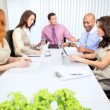 Planning Meeting Modern Advertising Executives - Stock Photo