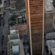 Stock Video: Aerial view of skyscrapers in urbdevelopment, USA