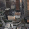 Stock Video: Aerial view of downtown traffic, Los Angeles, USA