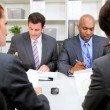 Business Meeting Multi Ethnic Business Team — Stock Video