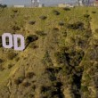 Aerial view of Hollywood sign Los Angeles, USA — Stock Video
