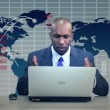Stock Video: BusinessmDownturn Virtual Business Environment