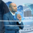 Ethnic Businessman Virtual Business Environment - Stock Photo