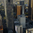 Stock Video: Aerial downtown financial buildings Los Angeles, USA