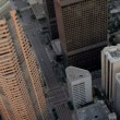 Stock Video: Aerial view of city skyscrapers, Los Angeles, USA