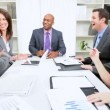 Successful Multi Ethnic Business Team Congratulations - Stock Photo