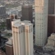 Stock Video: Aerial view of city buildings Los Angeles, USA