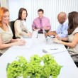 Team Meeting Multi Ethnic Advertising Agency Executives - Stock Photo