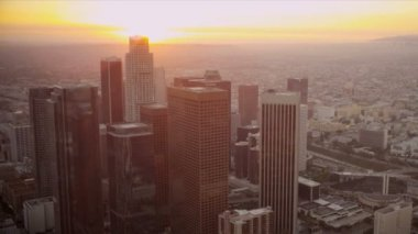 Aerial view of city buildings Los Angeles, USA — Stock Video