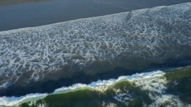 Aerial view of ocean waves, USA — Stock Video