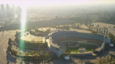 Aerial view of Dodgers stadium Los Angeles, USA — Stock Video