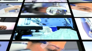 Montage Science Medicine Research — Stock Video