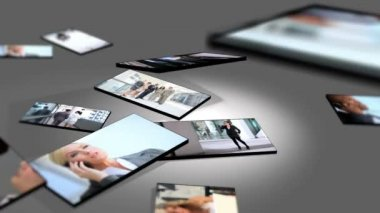 Montage Multiple Images Successful Business — Stock Video