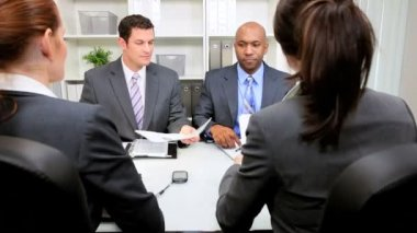 Business Meeting Banking Executives — Stock Video