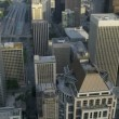 Aerial close up view Pacific west coast modern Urban city, Seattle — Stock Video #49430315