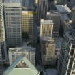 Aerial vertical rooftop view modern elevated city highway Seattle, USA — Stock Video #49432971