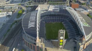 Aerial view CenturyLink Field Baseball Stadium — Stock Video