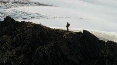 Climber at remote wilderness, Alaska — Stock Video