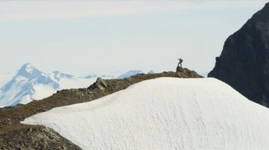 Climber at Troublesome Glacier — Stock Video