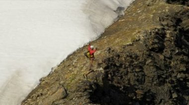 Climber at remote wilderness, Alaska — Stock Video