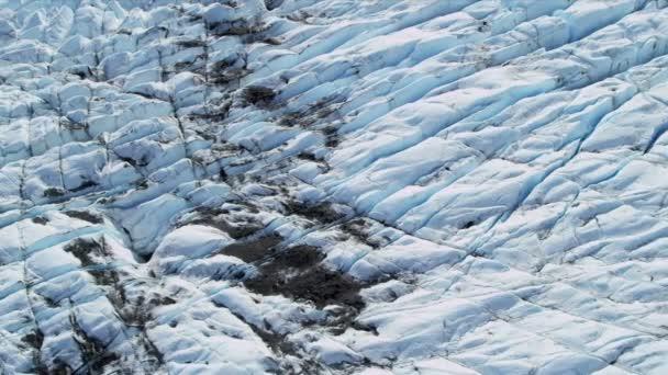 Vista aérea del hielo glaciar Ártico región — Vídeo de stock