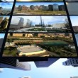 CG video wall of New York, panoramas, Statue Liberty — Stock Video