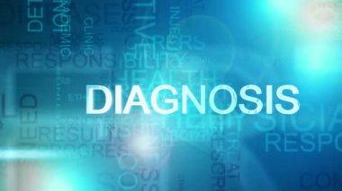 Montaż cg niebieski projekt graficzny tekst tło z tematu medyczny — Wideo stockowe
