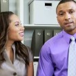 Business couple have Video Conference — Stock Video #49657007