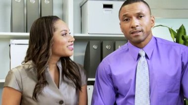 Business couple have Video Conference — Stock Video