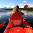 Female kayaking enjoying — Video Stock #50148021