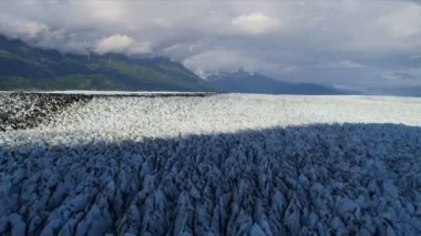 View of Knik Glacier — Stock Video
