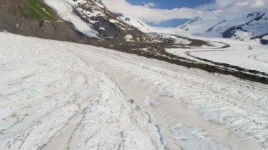 Stor arktisk glaciär — Stockvideo